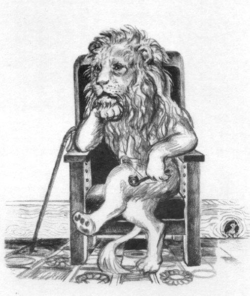 Лев с трубкой   tests   Pinterest