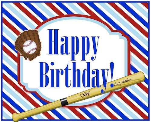 Whatsapp Your Baseball Fan Apt Birthday Wish With This Cool