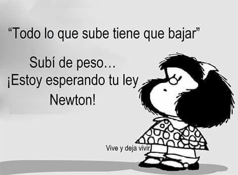Mafalda detengan el mundo me quiero bajar de peso