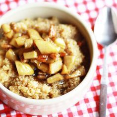 Quinoa Frühstücksideen  Apfel Zimt Frühstücksrezept
