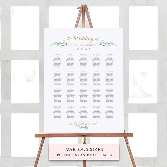 greenery wedding table numbers template printable reception table