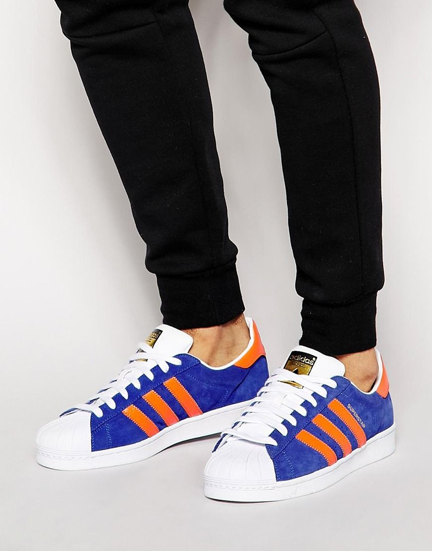 adidas blue superstar east river rivalry trainers