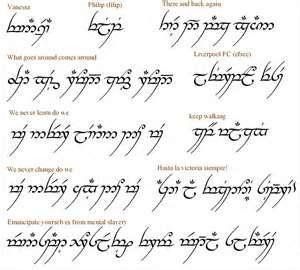 Phrase Translator For The Elvish Font Arabic Words Or