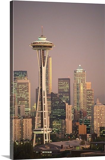 The Space Needle Dominates The Seattle Skyline Seattle Wallpaper Space Needle Seattle Space Needle