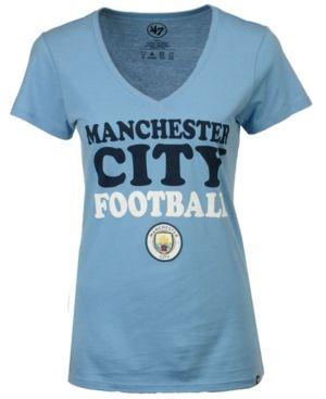 '47 Brand Women's Manchester City Club Team Wordmark T-Shirt - Blue XL