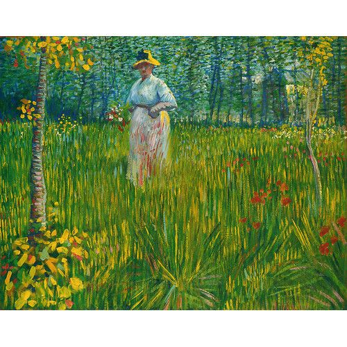 Found it at Wayfair - 'Woman Walking in a Garden,1887' by Vincent Van Gogh Painting Print on Wrapped Canvas