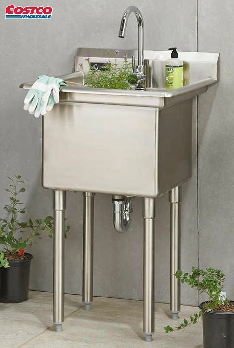 Trinity Stainless Steel Utility Sink With Faucet Stainless Steel Utility Sink Utility Sink Laundry Room Sink