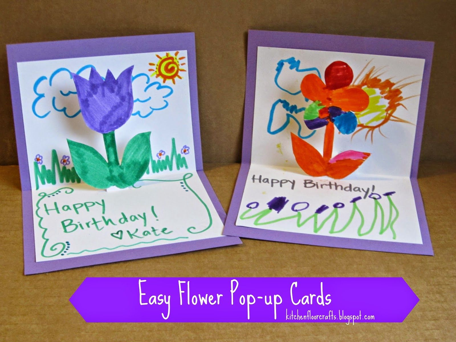 Homemade Birthday Cards for Kids to Create! Creative