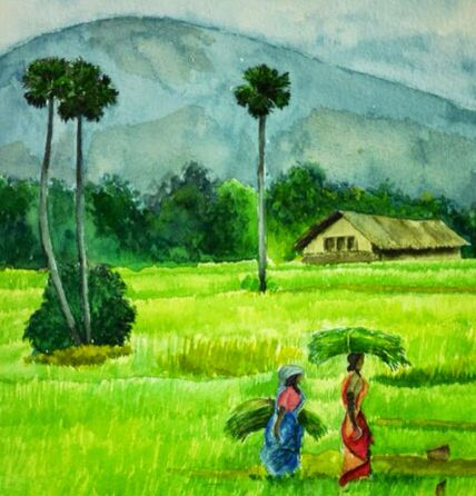 In The Fields Indian Paintings Indian Art Art Photography