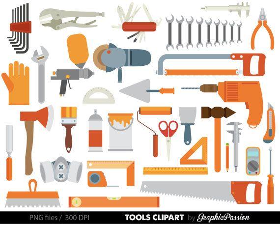 Tools Digital Art Set Clipart Tools Clipart Set Tools Clip Art Digital Files Helping Daddy Toolbox Clipar Clip Art Maker Fun Factory Vbs Maker Fun Factory