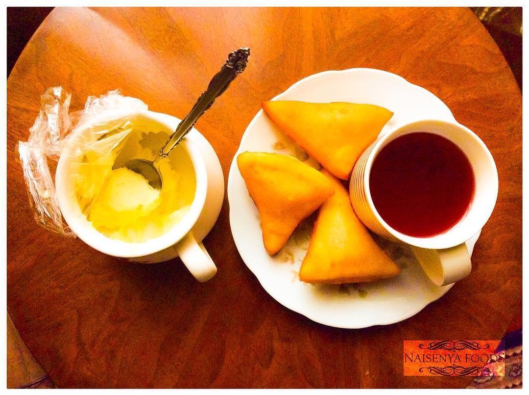 Good Morning Blueberry Apple Herbal Tea Mandazi And