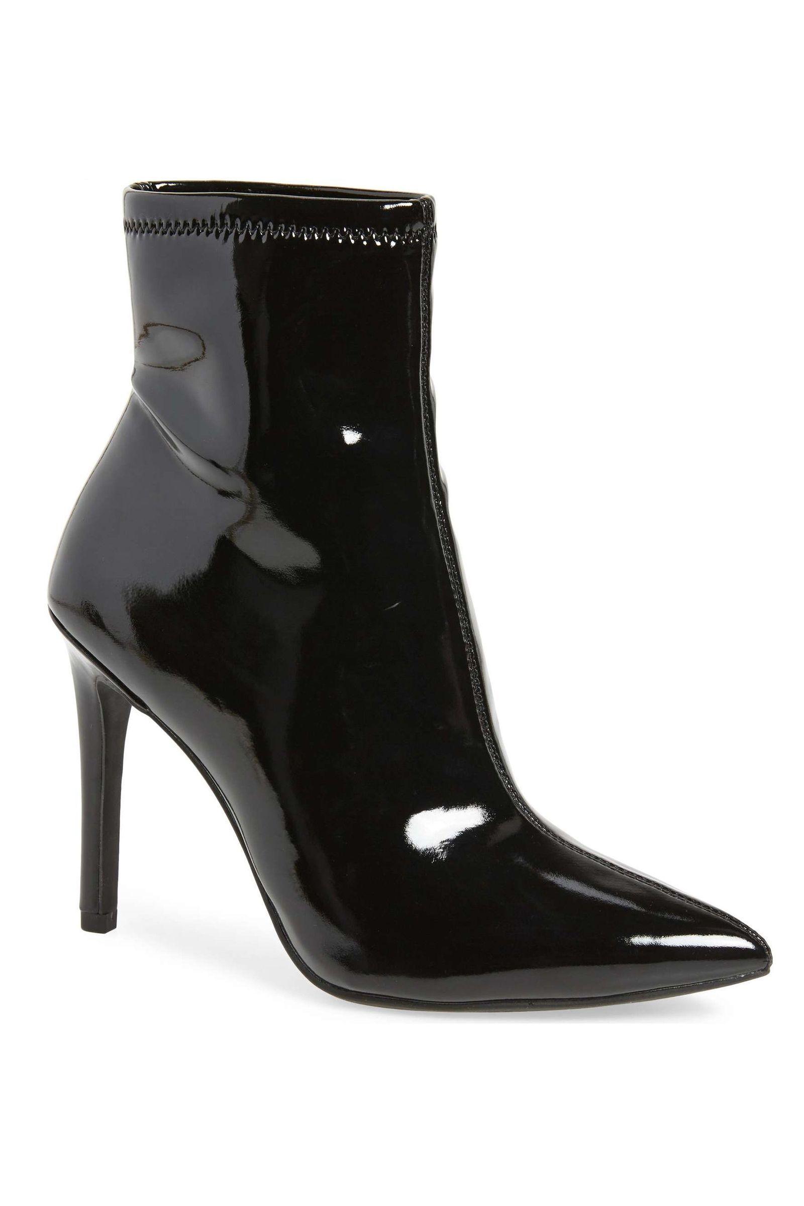 bb57d4e117 Discover ideas about Black Lace Up Boots. SheIn(sheinside) Lace Up Patent  Leather Ankle ...