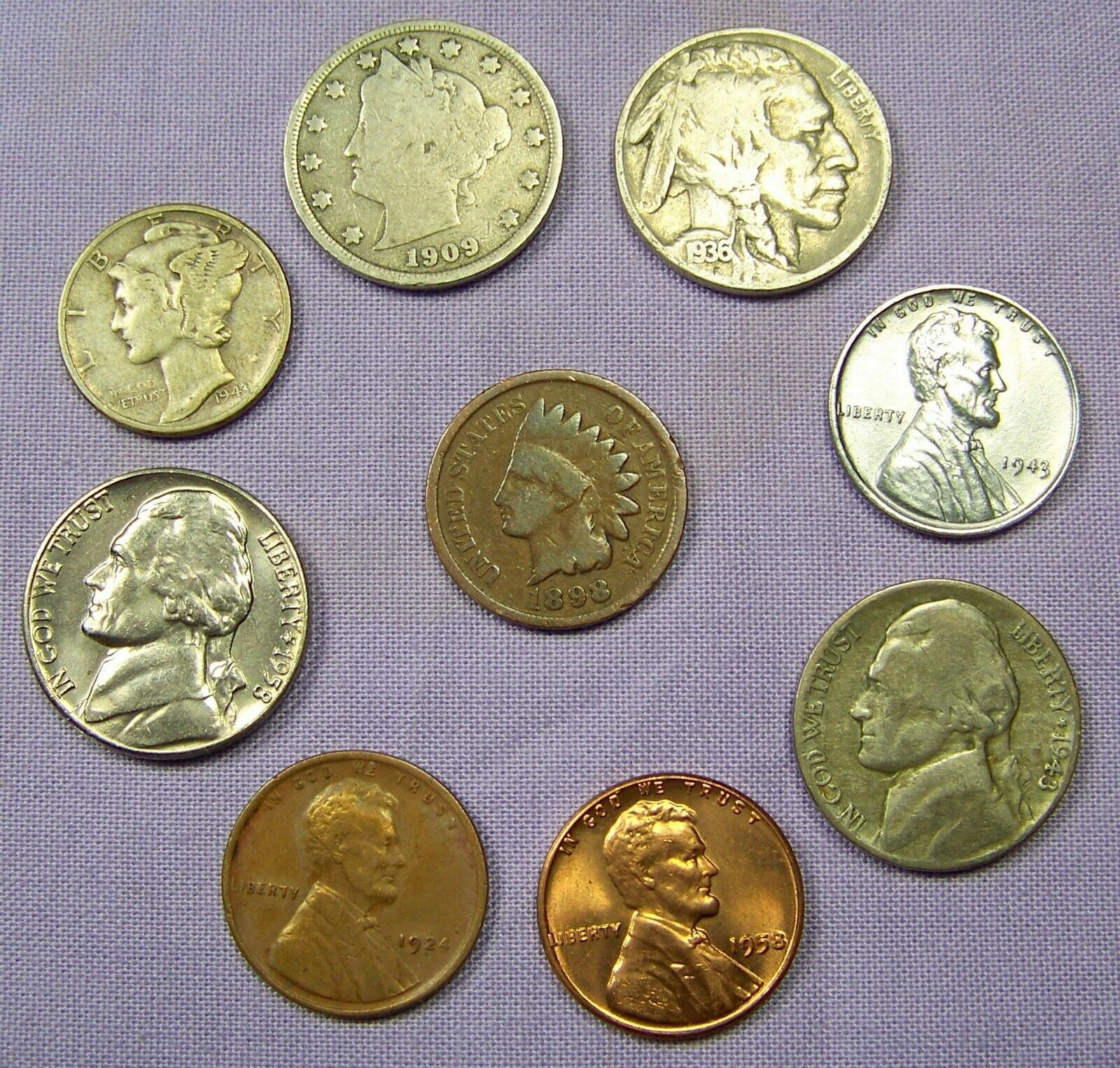 Mercury Silver Dime Starter Collection Lot of 9 Old US Coins