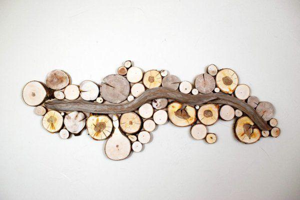 wanddekoration selber machen strom naturholz basteln Pinterest - wanddekoration selber machen