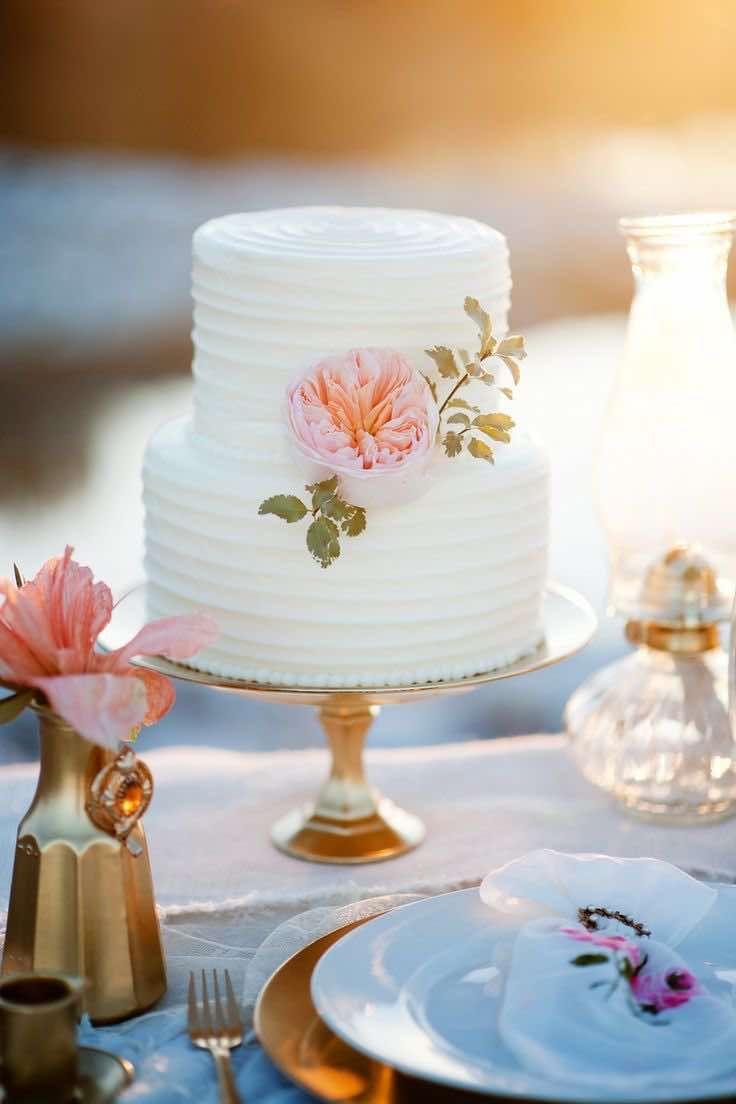 20 Beautiful Buttercream Wedding Cake Ideas | White wedding cakes ...