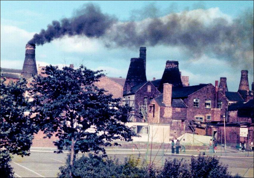 The last firing of a bottle Kiln. The Clean Air Act 1956