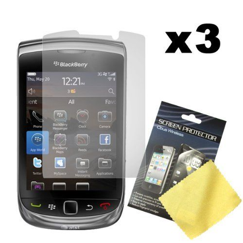 Cbus Wireless Three LCD Screen Guards / Protectors for RIM BlackBerry Torch 9800 / Torch 9810 / 9810 4G / Torch 2