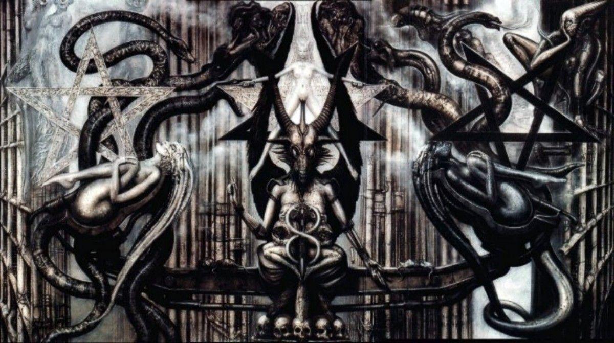 Hr giger tattoo designs - H R Giger From Necronomicon