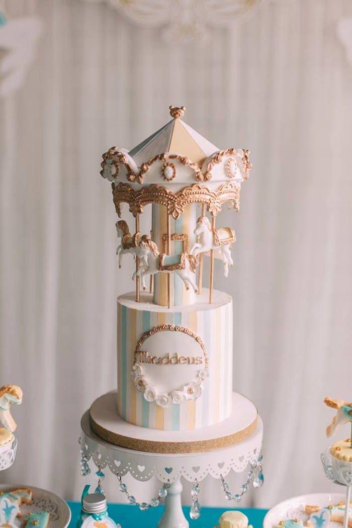 Merry Go Round Carousel Birthday Party Carousel Cake