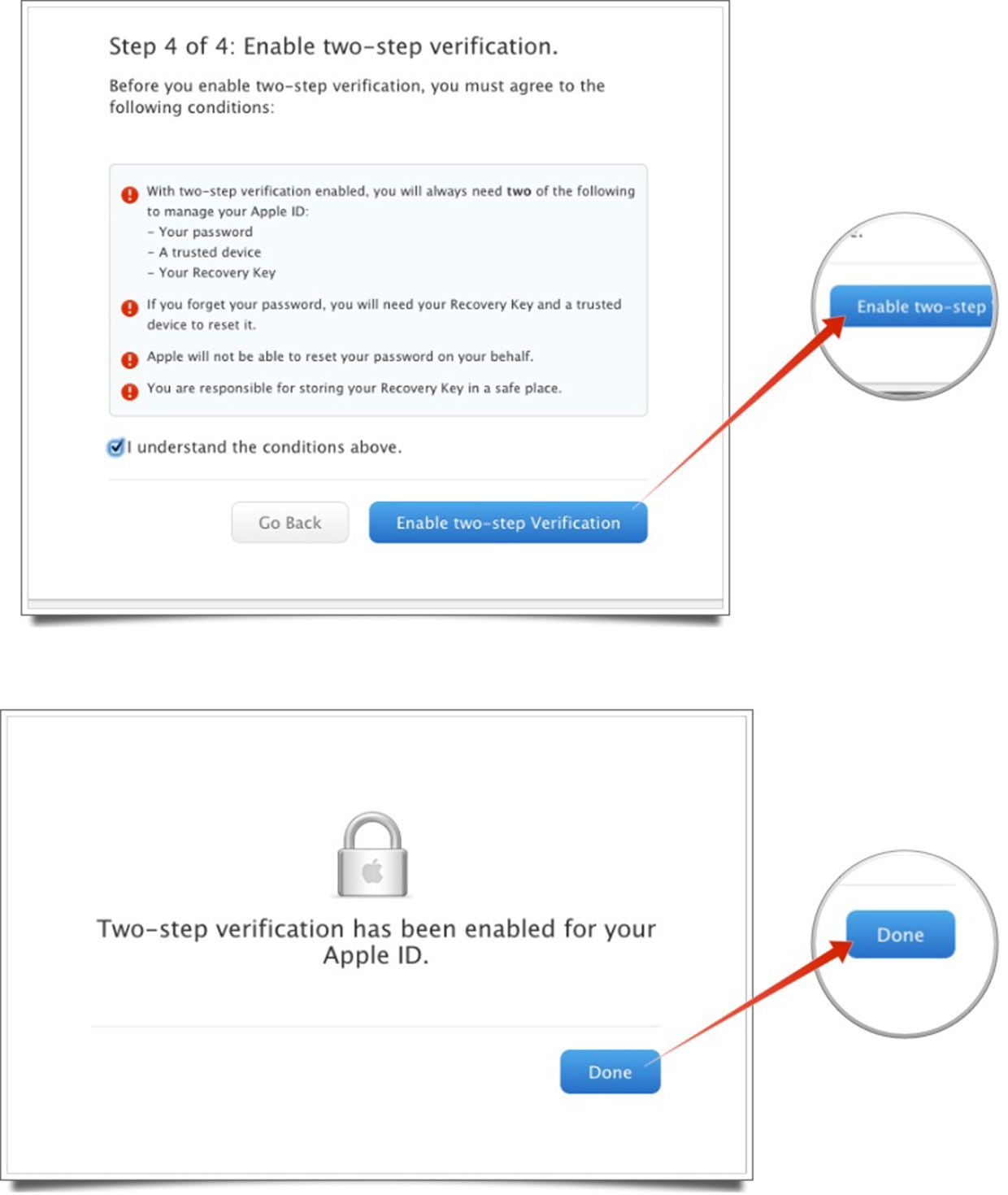 How To Enable Two Step Verification For Apple Id Enabling Apple