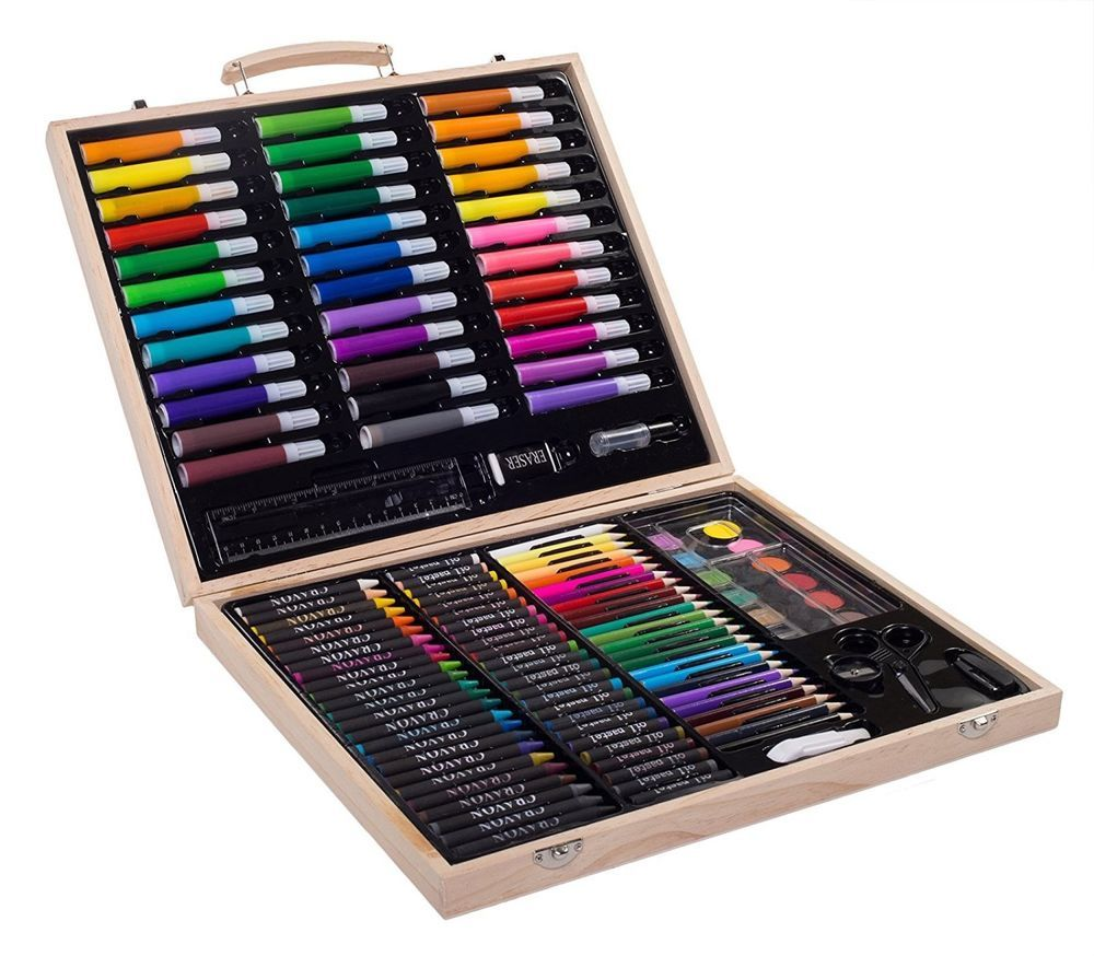 drawing art set 131 piece sketching pencil color art supplies