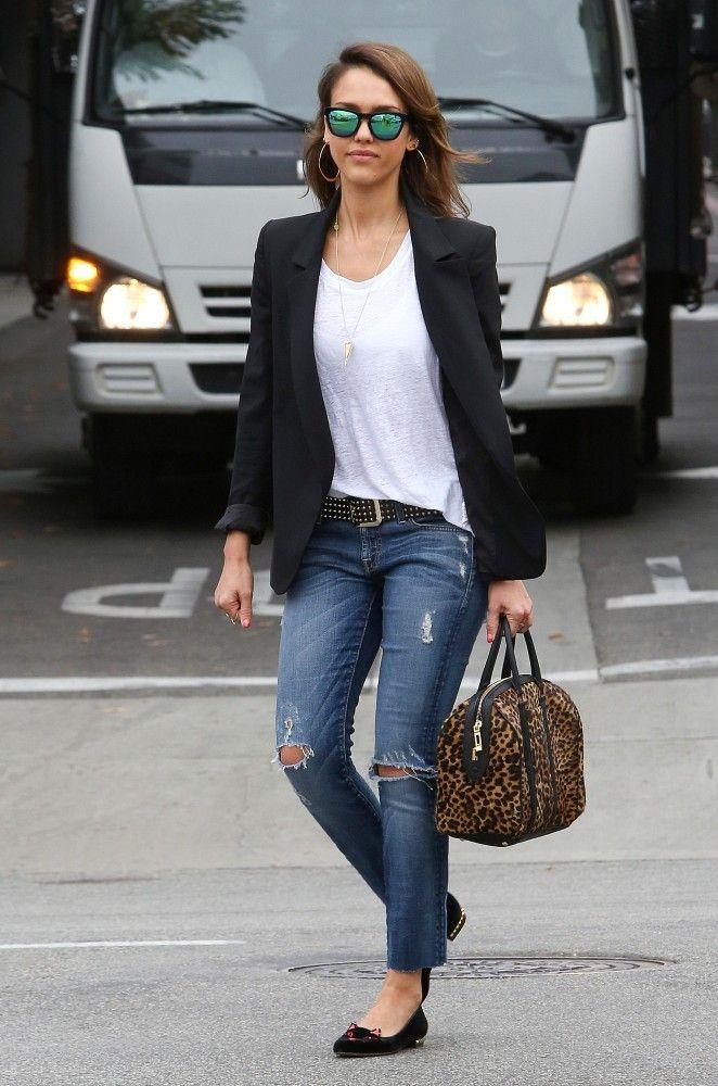 Jessica Alba Blazer - Jessica Alba Clothes Lookbook - StyleBistro 0fca3b538