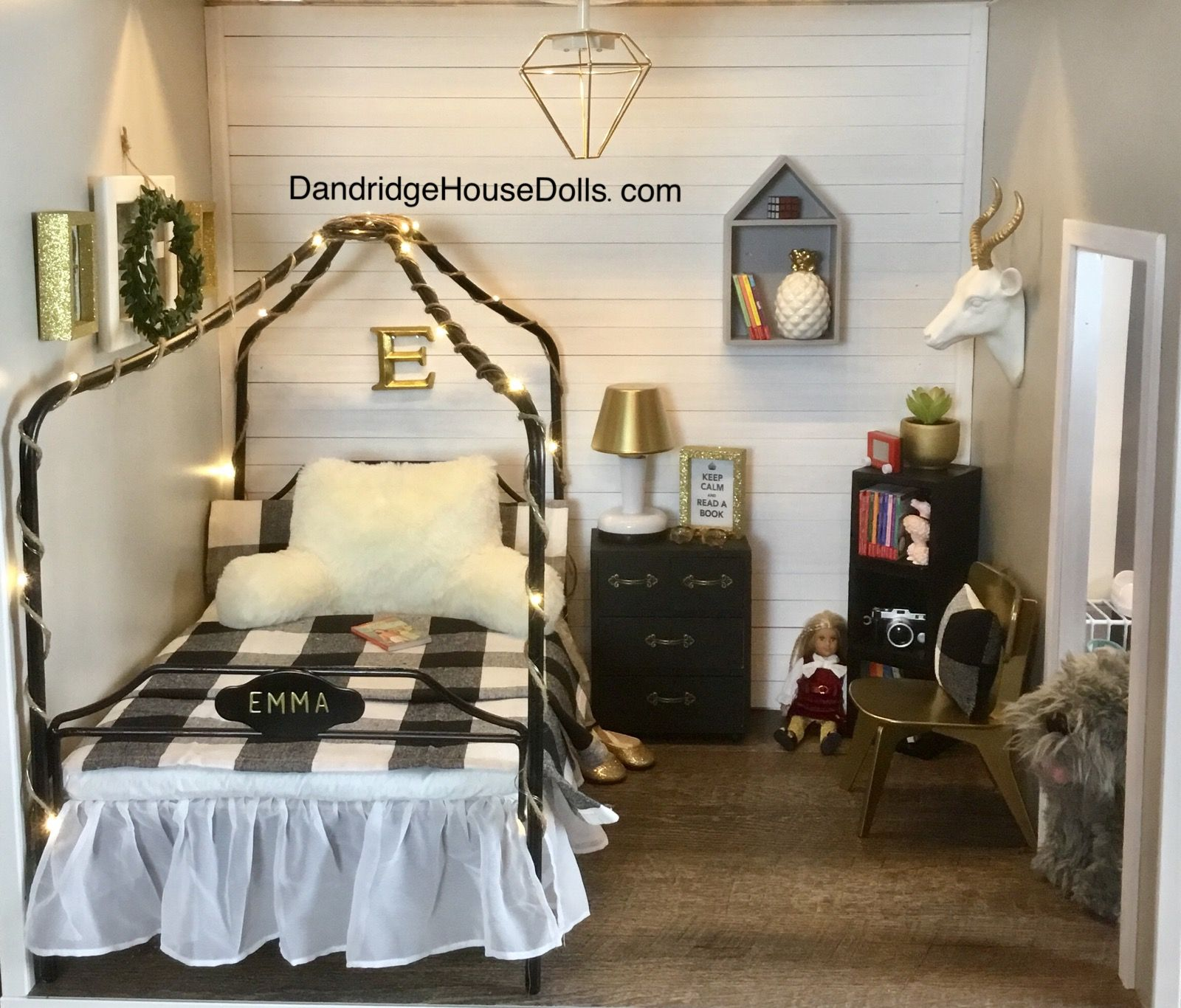 emma's bedroom  american girl doll room american girl