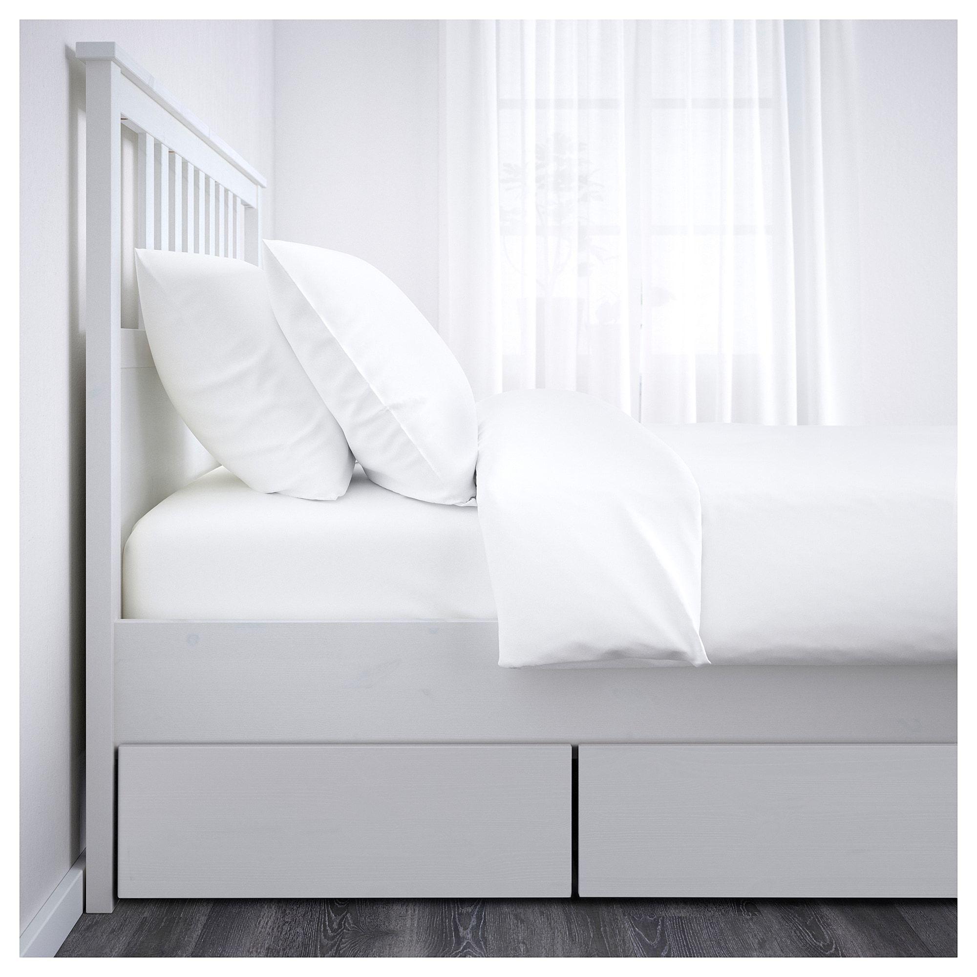 Hemnes Bettgestell Mit 4 Schubladen Weiss Gebeizt Ikea Deutschland Ikea Hemnes Bett Verstellbare Betten Bettgestell
