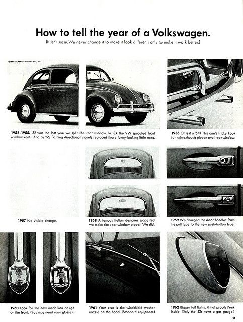 How To Tell The Year Of A Volkswagen Volkswagen Vintage Volkswagen Vw Beetles
