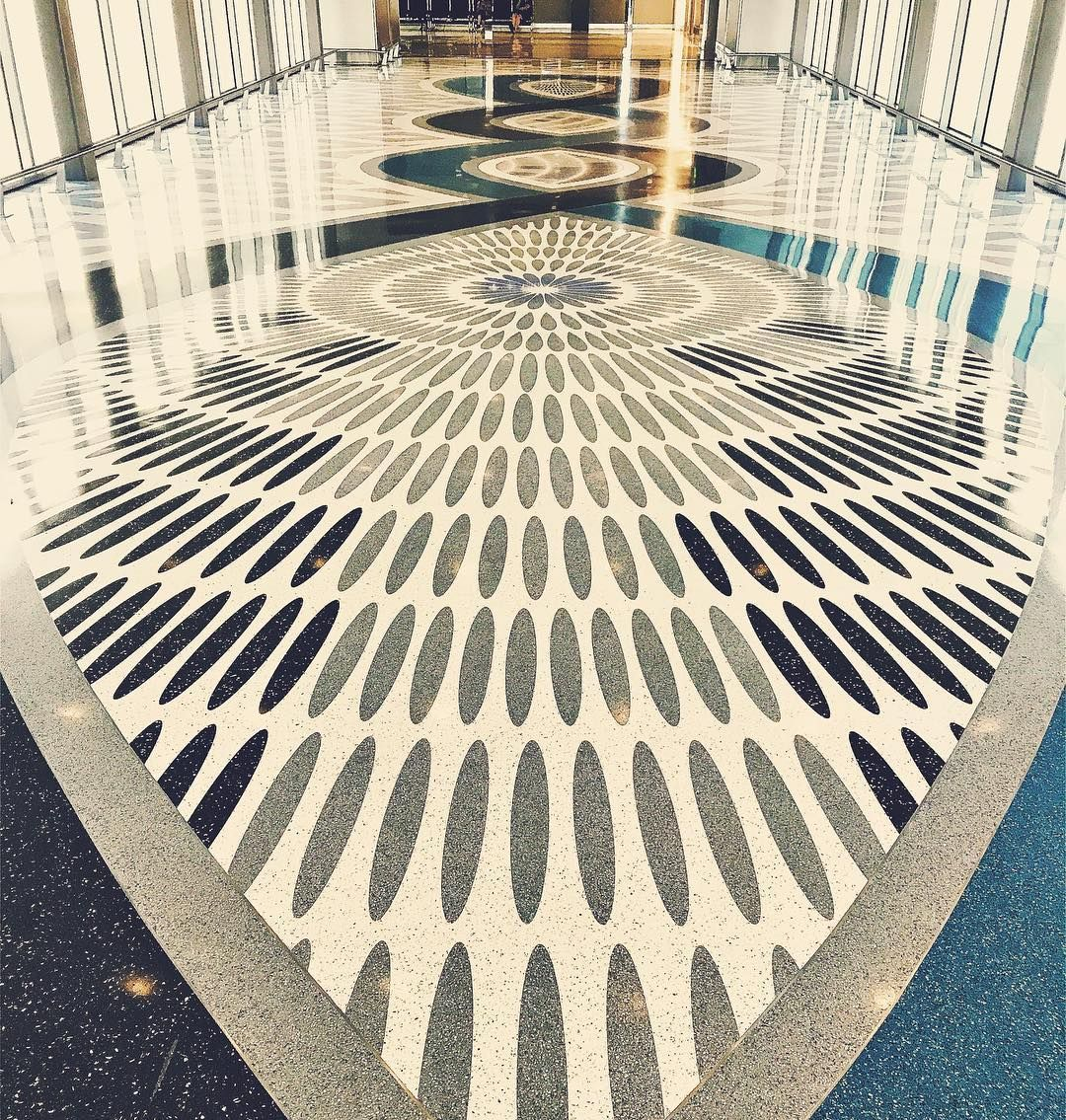 terrazzo floor design at phoenix sky harbor international