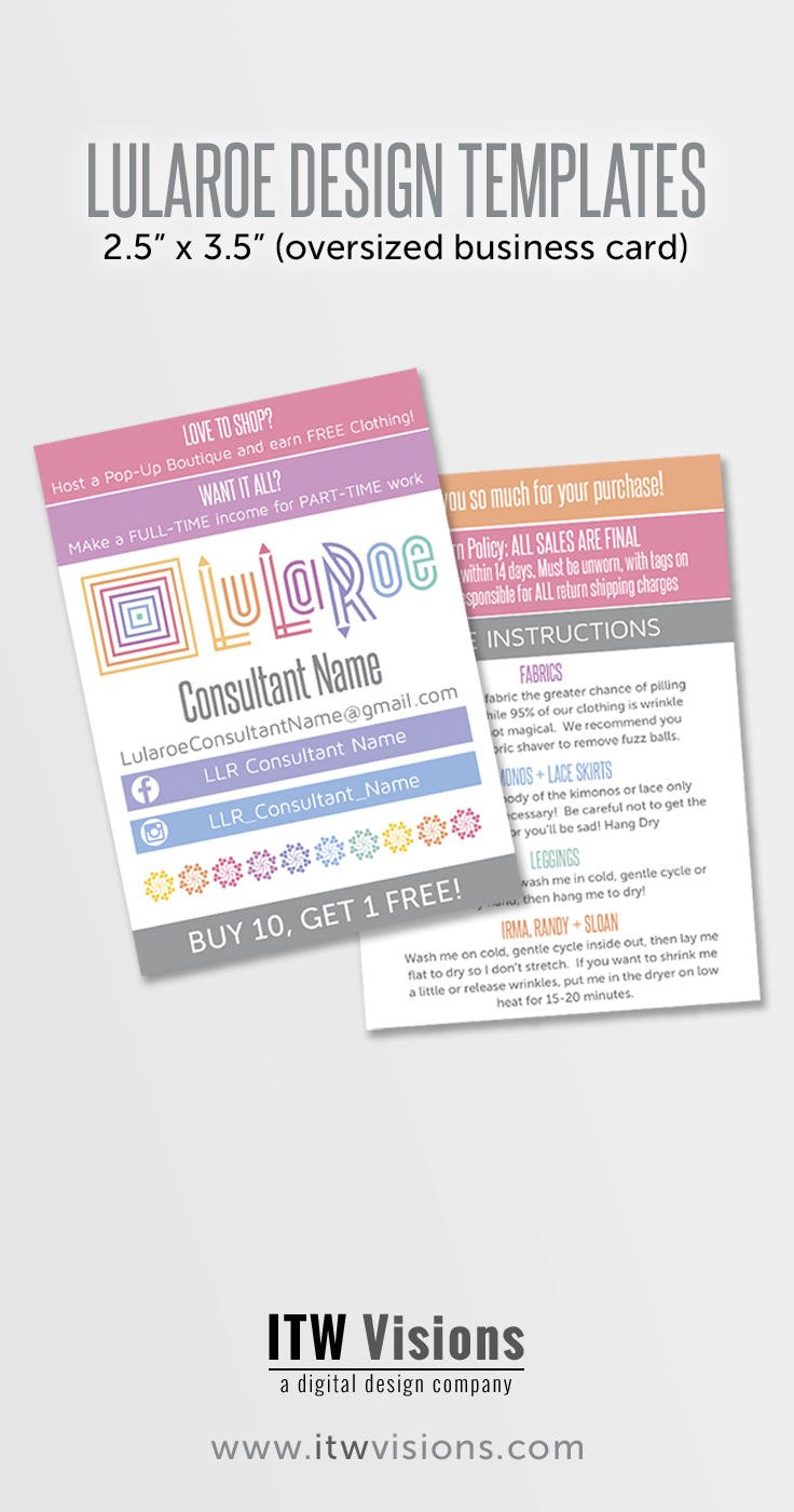 These lularoe approved business cards are a great way to share your ...