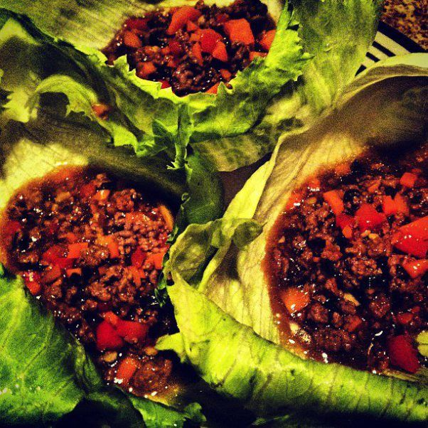 Korean beef in lettuce leaves beef lettuce wraps flat belly korean beef lettuce wraps 379 calories3 wraps flat belly diet recipe forumfinder Image collections