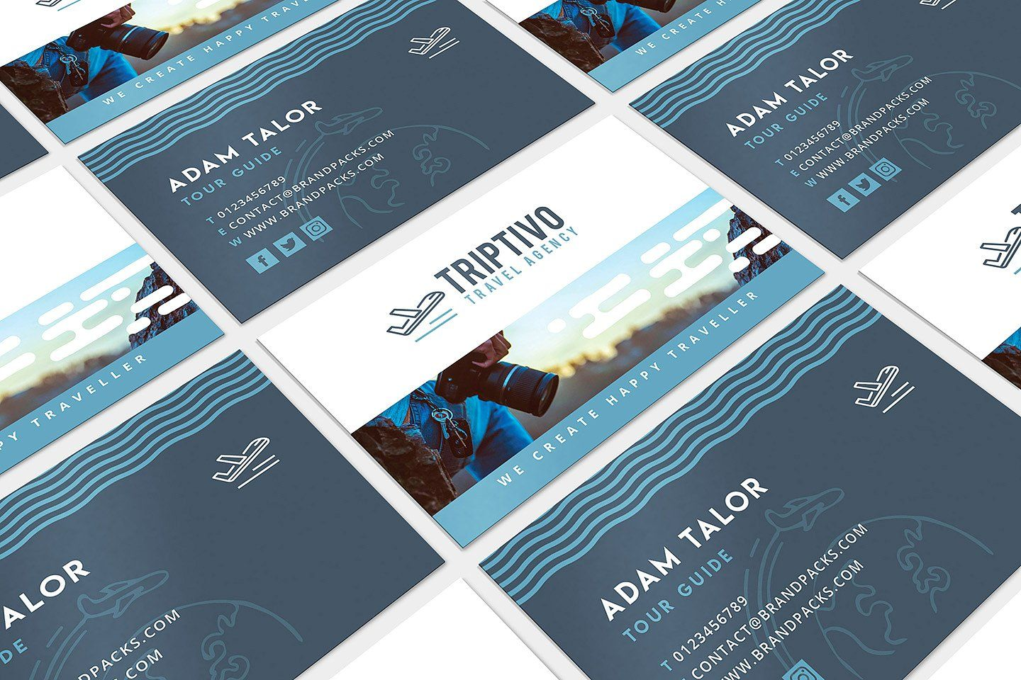 Travel Company Business Card Design With Images Company