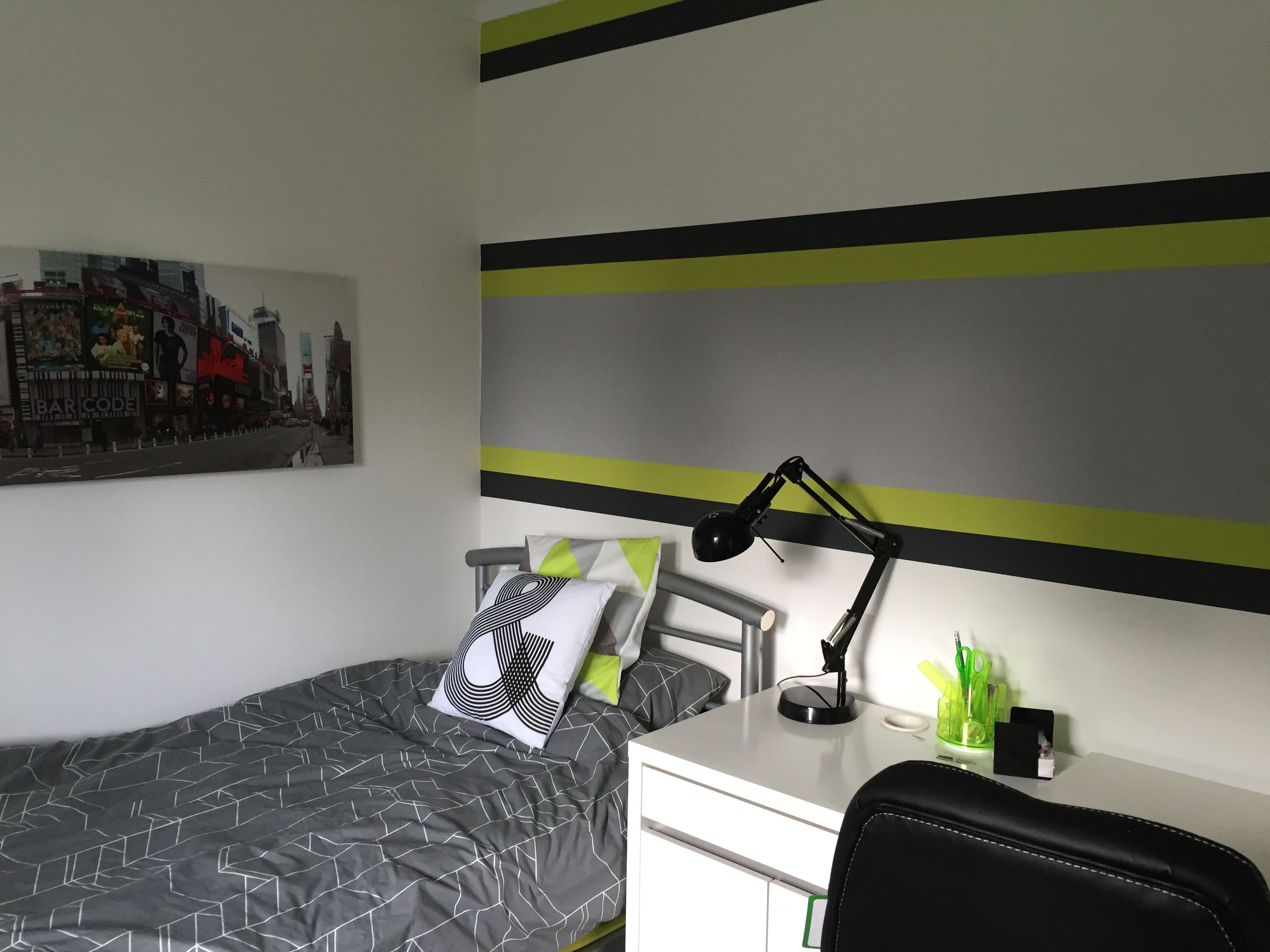 Image Result For Lime Green Grey And Black Boys Bedroom