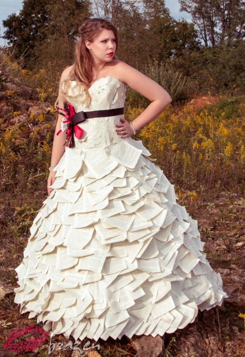 Duct Tape Wedding Dress | Kate couldn\'t recall which books were used ...