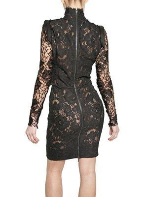 Черное платье хлопок кружево серая ткань