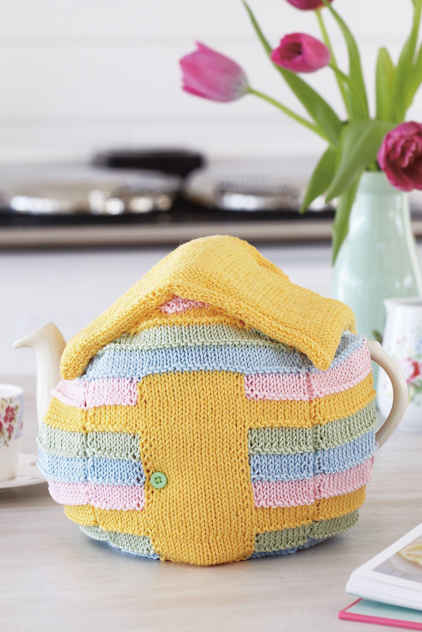 Beach Hut Tea Cosy Knitting Pattern   Pinterest   Teteras y Tejido
