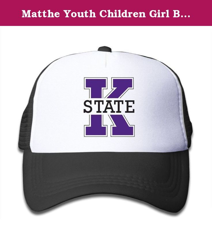 Matthe Youth Children Girl Boy Kids Element Printed Pattern Kansas State University K State Kansas State Wildcats Logo Unisex Half Mesh Adjustable Baseball Cap Hat Snapback Black. The Cap Is Poly Foam Trucker Hat With Screen Print At Front Panel,you Can Find Sun Hats That Blocks Sun Rays From Your Face,ears,neck.You Can Browse Our Selection Of Other Options For Everything From Fishing,hiking,and Skiing To Running And Golf.