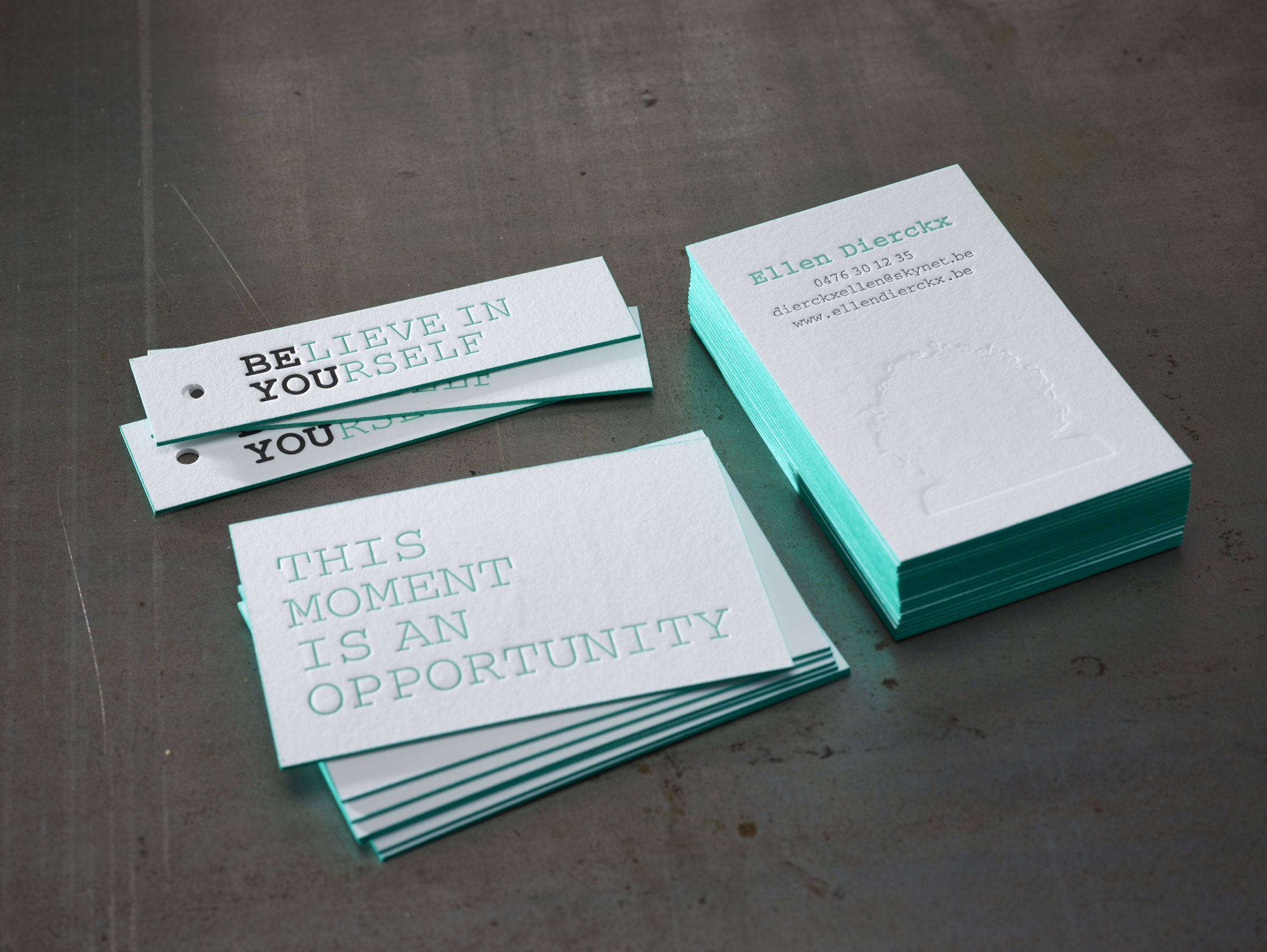 Letterpress business cards and labels with edge coloring mint green letterpress business cards and labels with edge coloring mint green proudly printed in belgium by reheart Image collections
