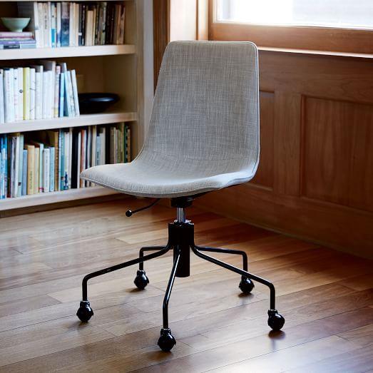 Modern Slope Upholstered Swivel Office Chair Upholstered Office