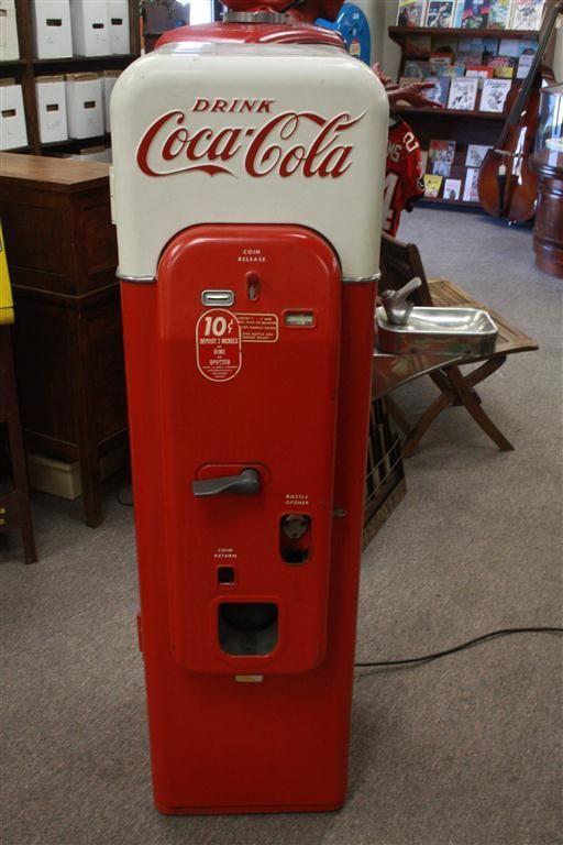 VINTAGE 1950's Coca Cola Vendorlator VMC44 Soda Machine w Water