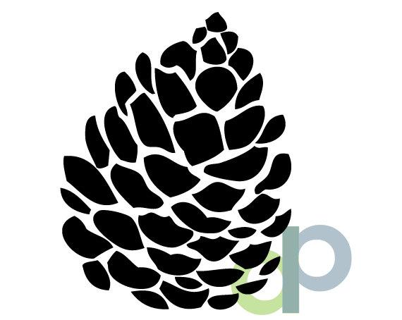 Pine Cone Stencil Pine Cone Silhouette Pine Cone Clipart Etsy Pine Tree Silhouette Pine Cones Pine Cone Drawing