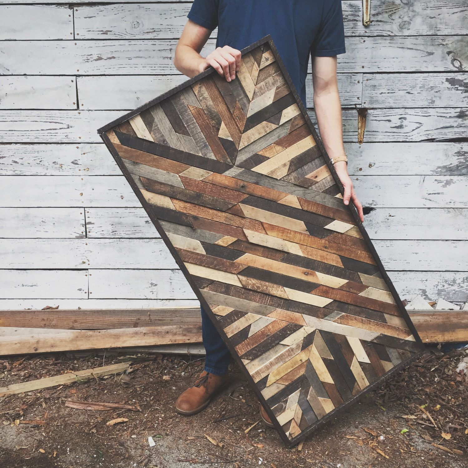 Rustic art design made from reclaimed wood woods wood working and