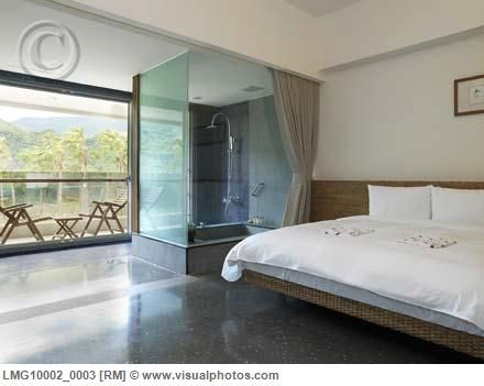 glass shower in bedroom, perfect | home is in the heart