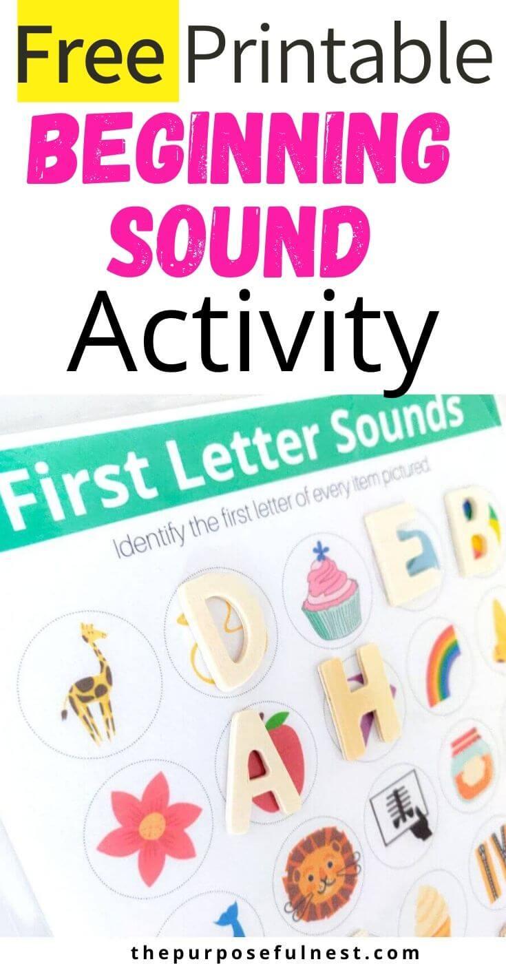 Beginning Sound Worksheet Beginning Sounds Worksheets Beginning Sound Alphabet Activities [ 1400 x 735 Pixel ]