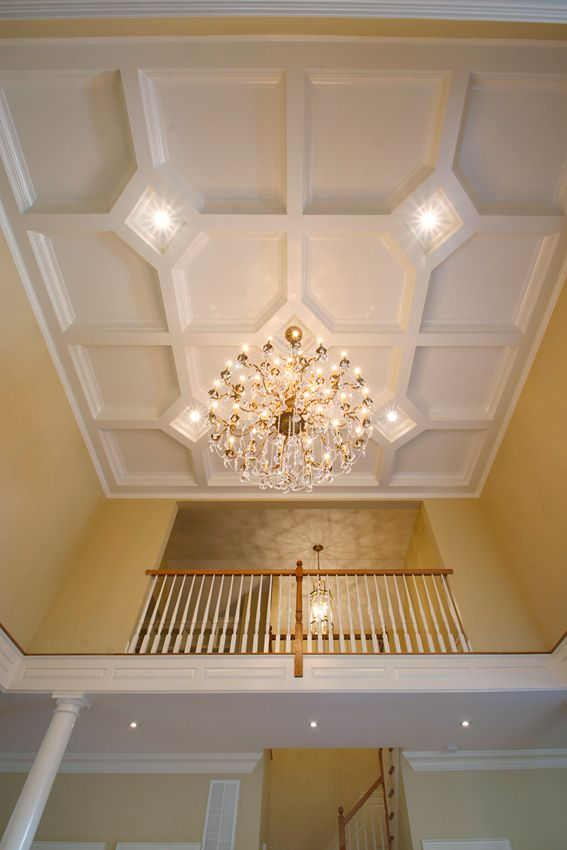 Do It Yourself Home Design: Classic, Raised Or A Recessed Panel Coffered Ceiling With