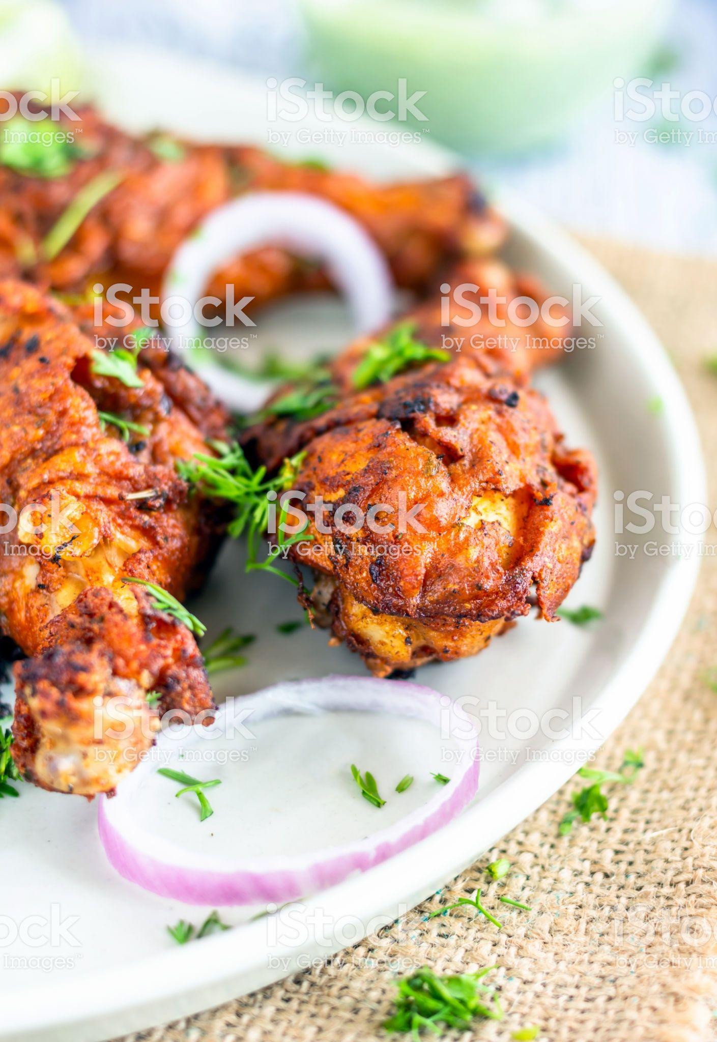 Indian Style Fried Chicken Drumsticks. Homemade Deep Fried