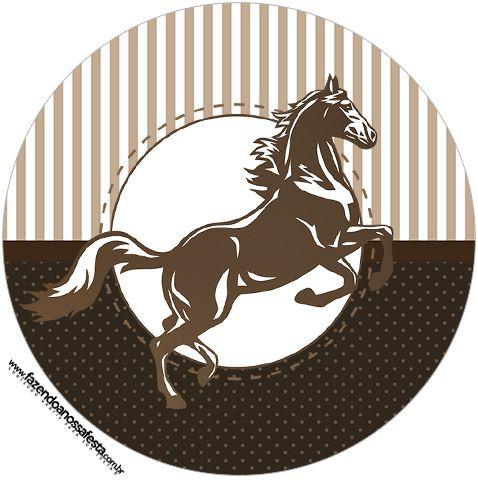 Kit Festa Cavalo Grátis para Imprimir | Caballos, Cumple y Marcos