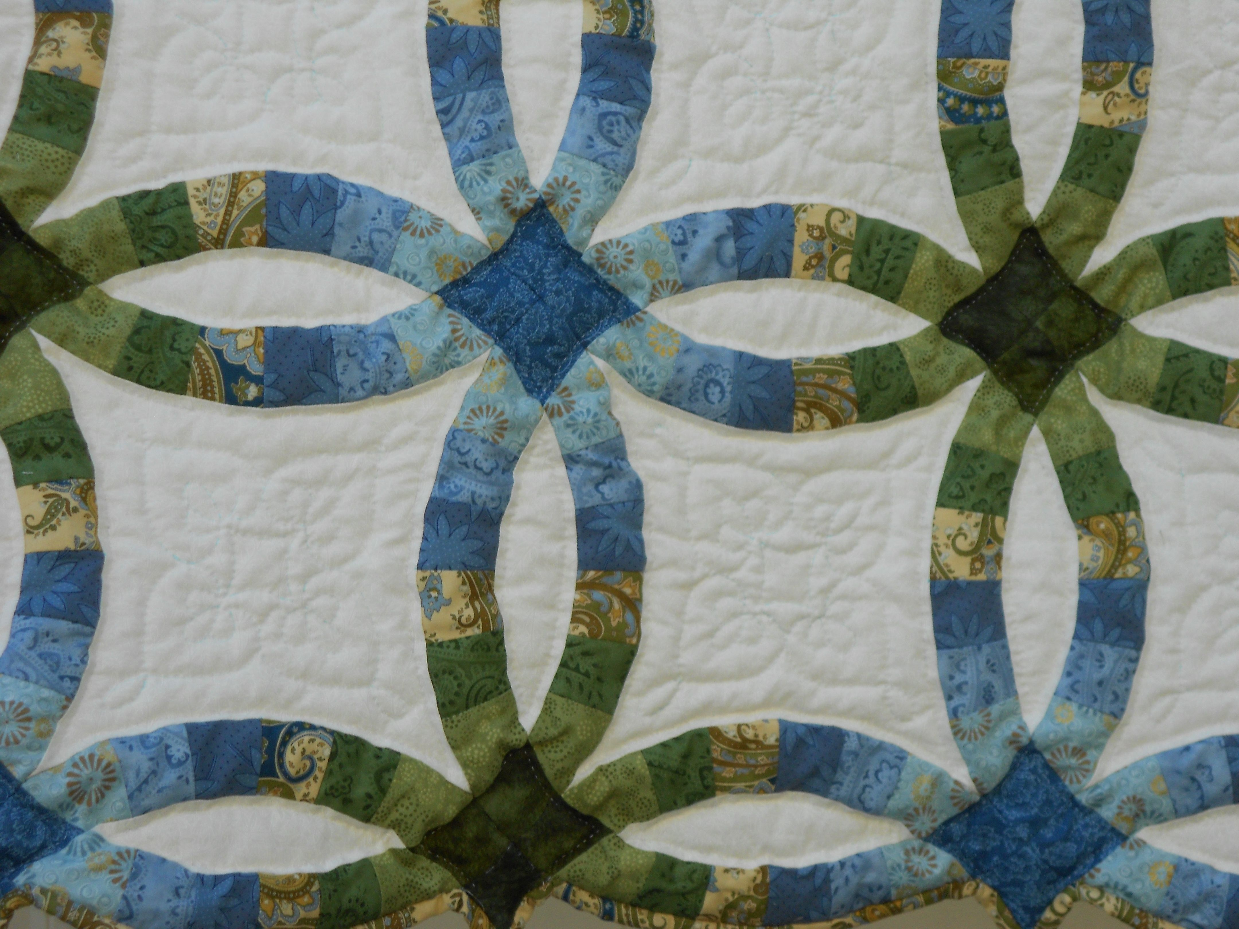 Double Wedding Ring Double wedding ring quilt, Wedding