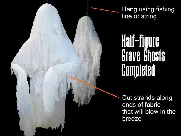 Halloween Decoration How to Make Human-Size Ghosts Cheesecloth